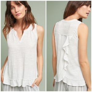 Anthropologie Tops - Anthro Ruffle Back Tank